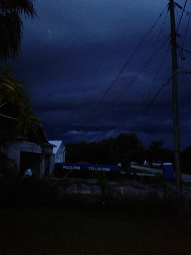 Ominous sky in Port Saint Lucie