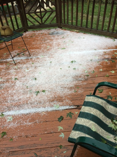 Hail! 15 min ago, sent by Mary in Towson