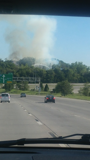 Fire on west did of 635