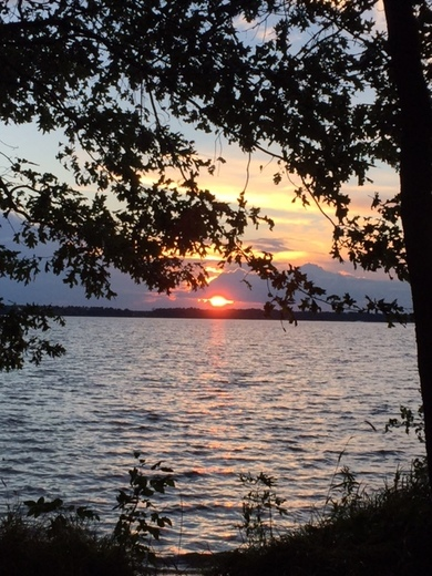 Sunset over Castle Rock Lake from Buckhorn State Park