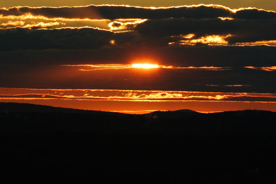 Sunset over Athol