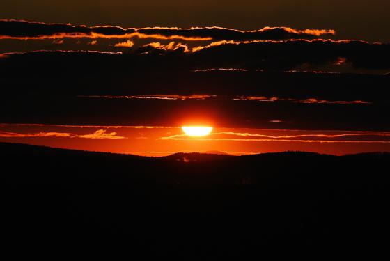 Sunset over Athol