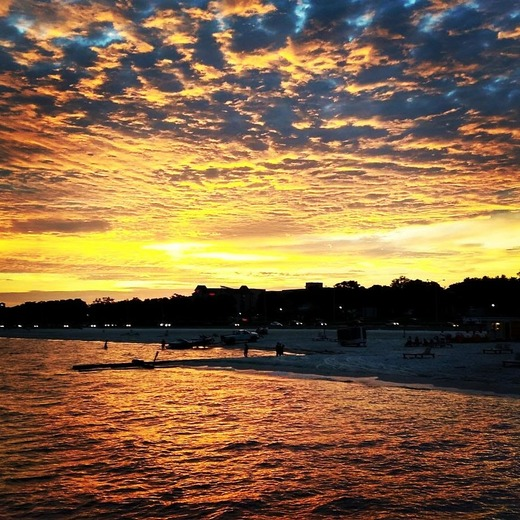 Sunset on Mississippi gulf coast