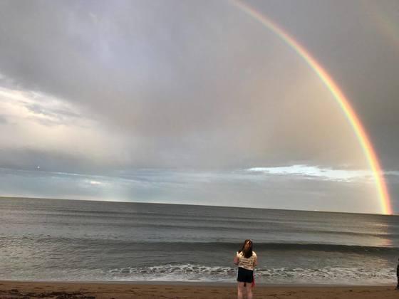 rainbow..gods promise not to flood the earth