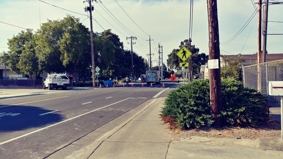 Crews hit gas line in Live Oak