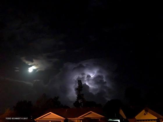 Lighting and moon