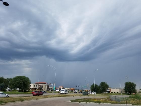 Strange looking clouds