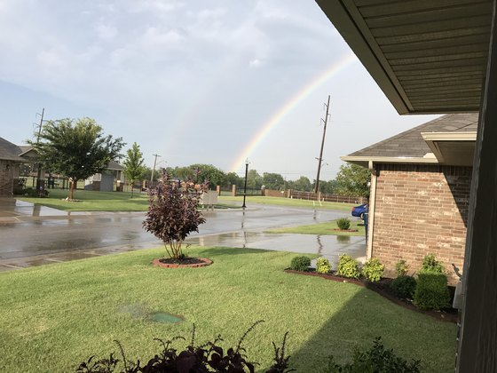 double rainbow over Moore