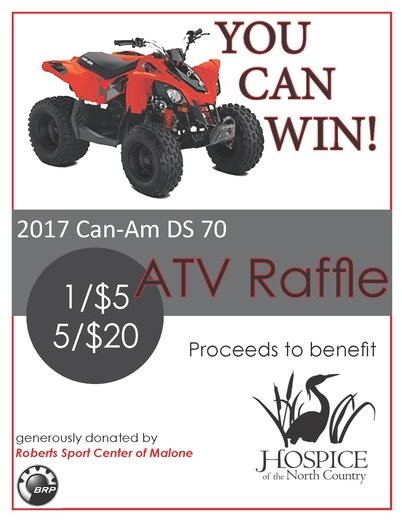 Hospice of the North Country ATV Raffle