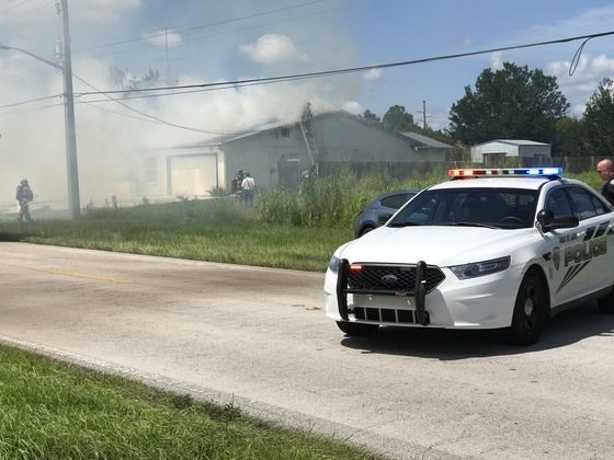 House fire in Port st lucie