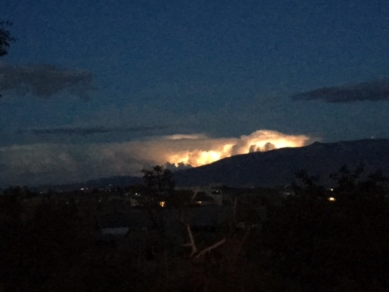 Lightning over the Sandias tonight!