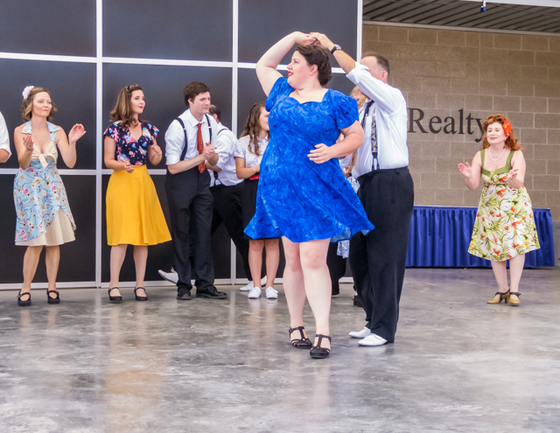 Step Into Swing troupe at the Iowa State Fair