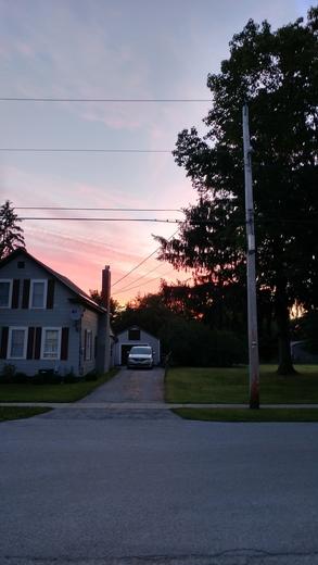 Morning sunrise in Swanton