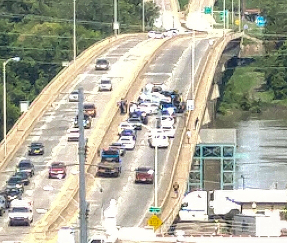 Wreck on Garrison Avenue bridge