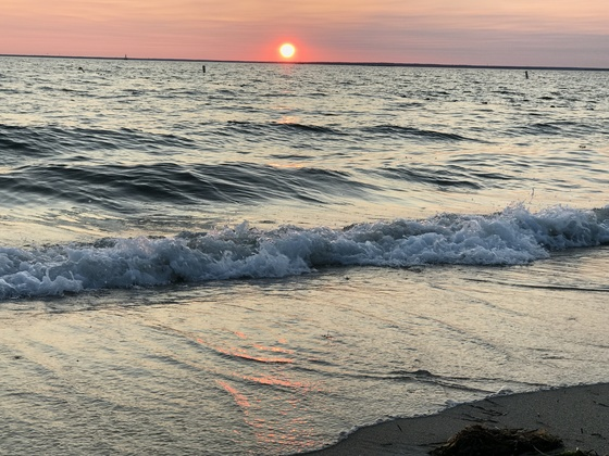 Sunset at Old Silver Beach 8/20/2027