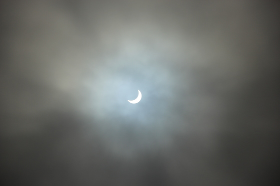 Eclipse seen through 'Moon Roof'
