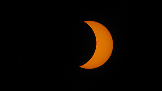 Timelapse images of eclipse in Cocoa Beach