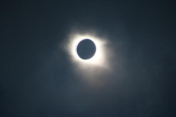 Total eclipse at Lake Marion, South Carolina