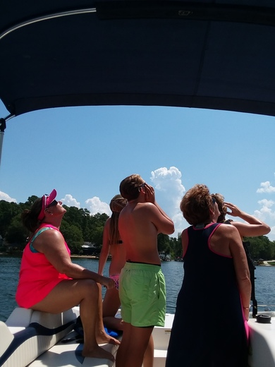 On the boat at Lake Murray...Anticipation