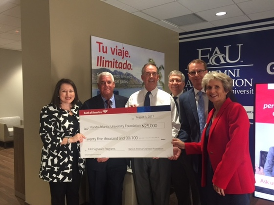 Bank of America awards $25,000 to FAU Foundation
