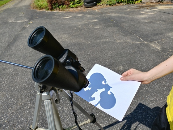 Creative eclipse viewing