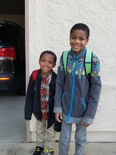Logan & Kaleb First Day of School Roye-Williams here we come