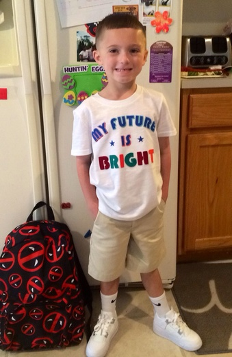 My sons first day of Kindergarten