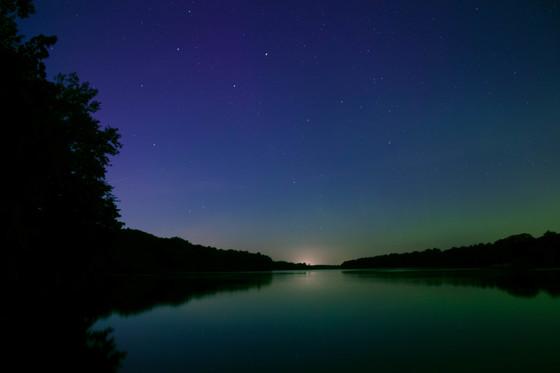 Aurora from Big Creek Lake