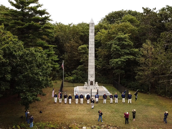 Aerial Photos of the Battle of Plattsburgh Ceremony on Crab Island.