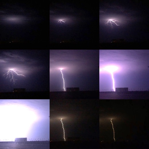 Lightning show over the Central Valley last night