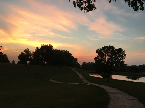 Fall Evening On The Golf Course