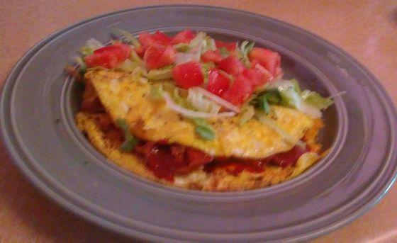Carne Adovada Omelet