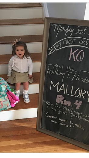 Mallory's First Day of School