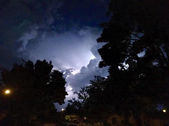 lightning near Stockton