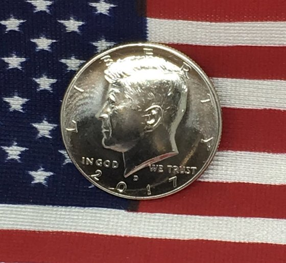 Celebrating the 100th anniversary of JFK Bday w/2017 Half Dollar Magnet