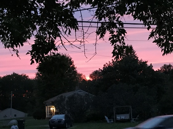 Sunset in Blackstone MA