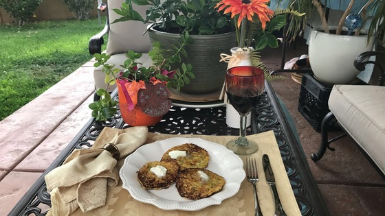 Green Chile Cheese Zucchini Fritters