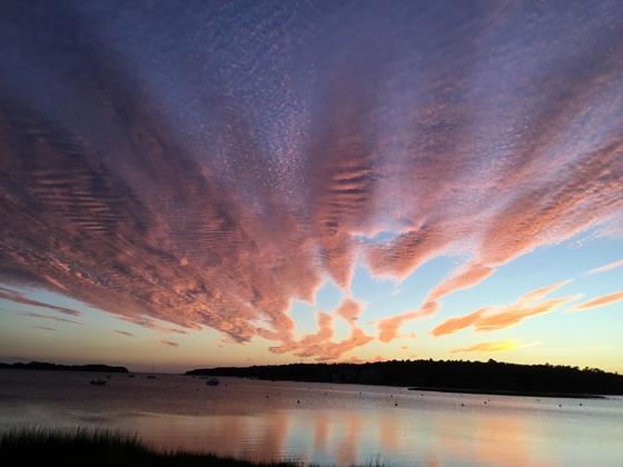 Sunset over Pocasset