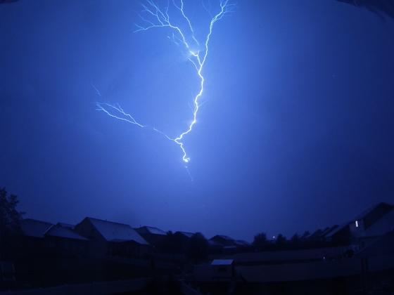 Lightning from Overnight Storm