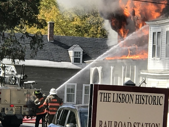 House Fire in Lisbon NH 10/05/17