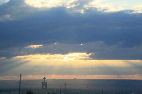 Sun leak over Albuquerque 5 Oct 2017