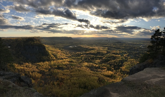 Sunset overlooking Canadian Shield