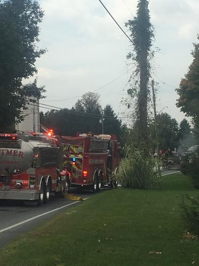 Tar trailer fire