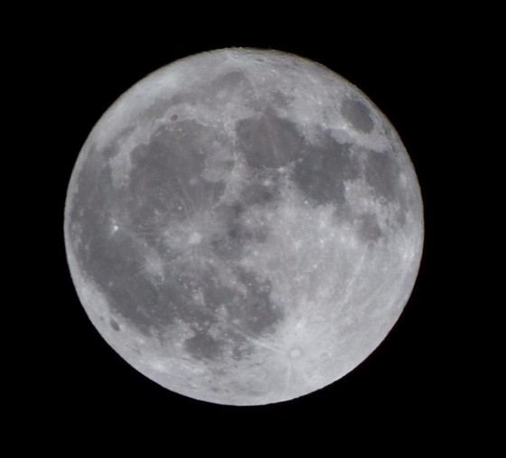 October Harvest Moon Timelapse and picture