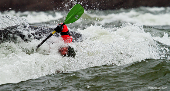 3a. Kayaker in rapids