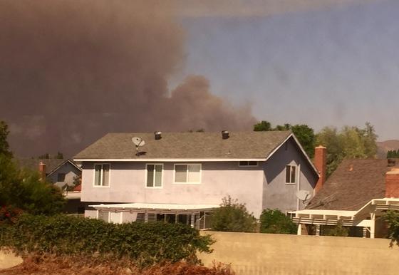 Fire in Anaheim, Ca. Area