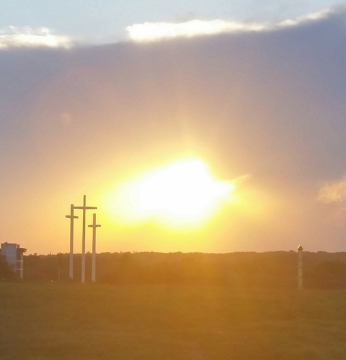 Sunset at Cross Church