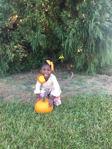 Jy at the Pumpkin Patch