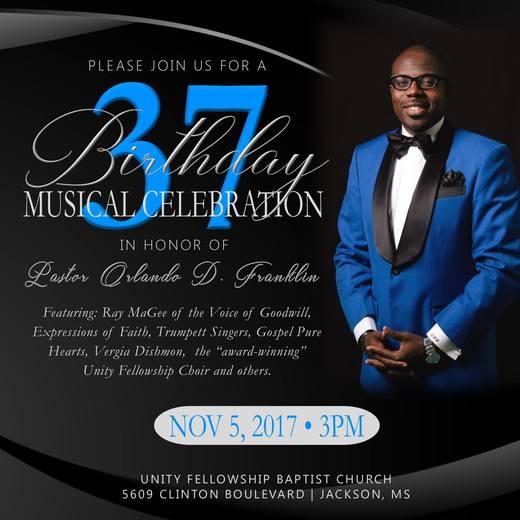 Pastor Orlando D. Franklin's 37th Birthday Celebration