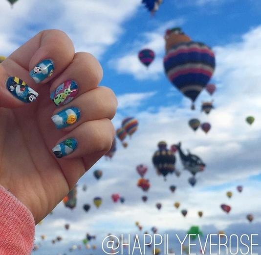 Balloon Fiesta Nail Art